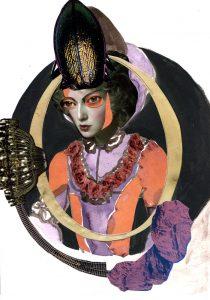 Spiegelbild-Bleistift-Gouache-Collage-2013_30x21cm