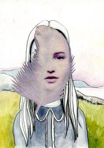ohne Titel, Bleistift-Gouache-Collage 2011, 30 x 21 cm