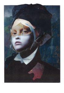 collagiertes Portrait einer Frau, der Renaissance angelehnt